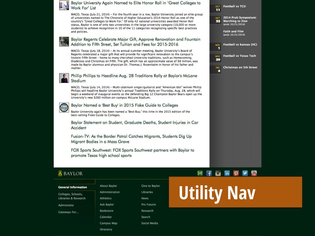 Utility Nav