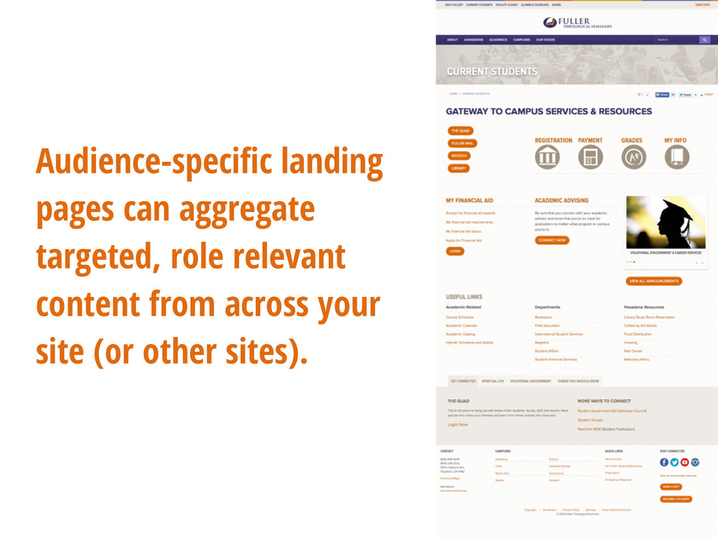 Audience-specific landing pages can aggregate ta...