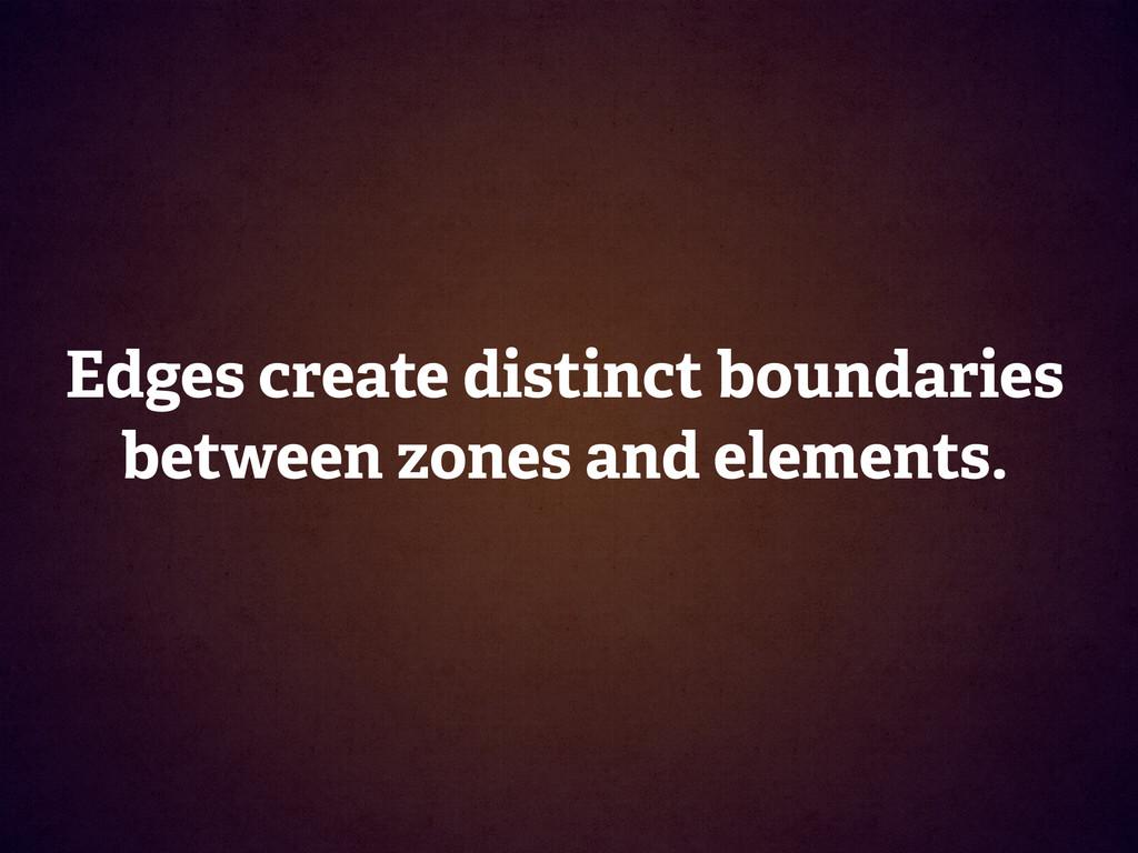 Edges create distinct boundaries between zones ...