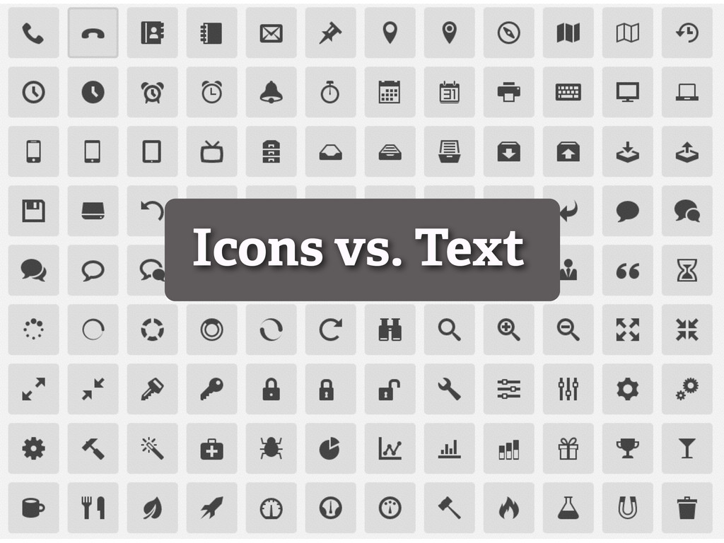 Icons vs. Text
