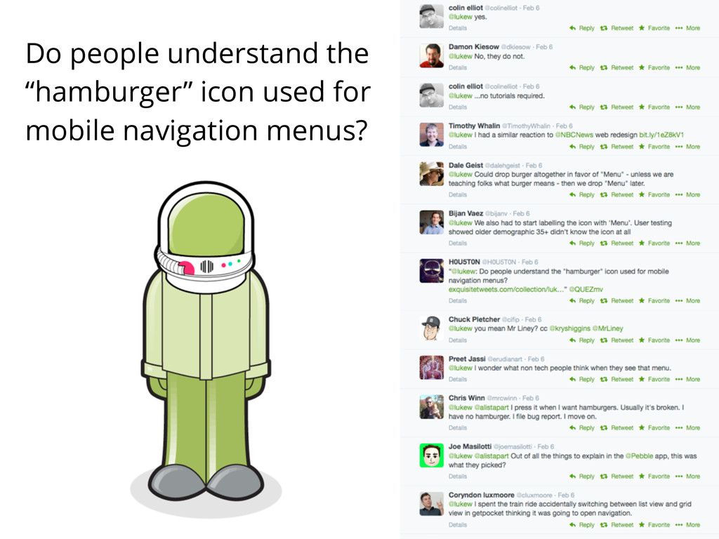 "Do people understand the ""hamburger"" icon used ..."