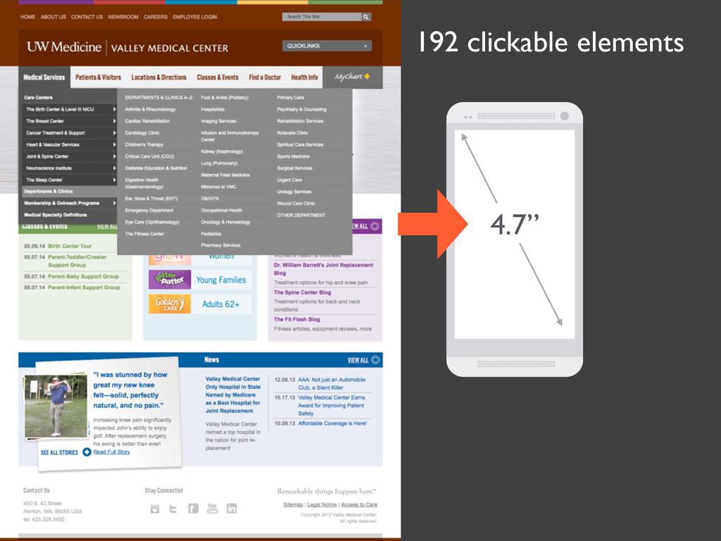 """192 clickable elements 4.7"""""""