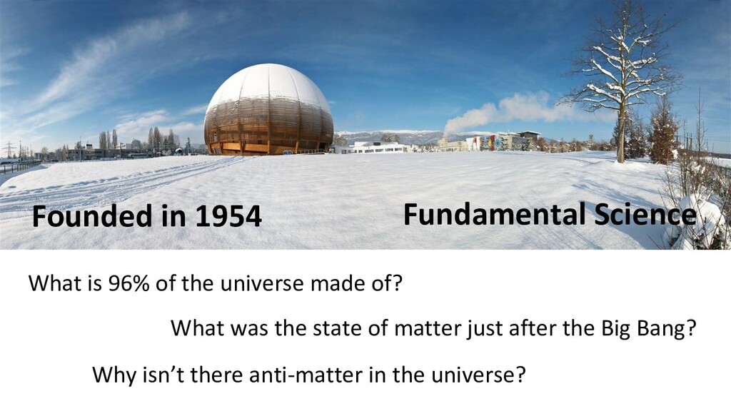 Founded in 1954 What is 96% of the universe mad...