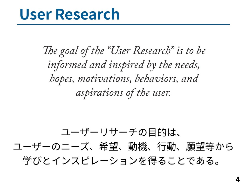 """6TFS3FTFBSDI   The goal of the """"User Researc..."""