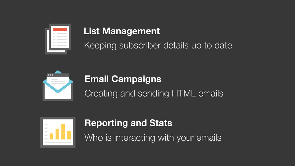 List Management Email Campaigns Reporting and S...