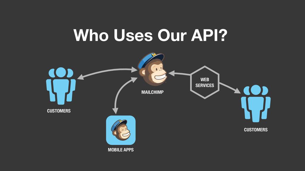 Who Uses Our API? WEB SERVICES CUSTOMERS CUSTOM...