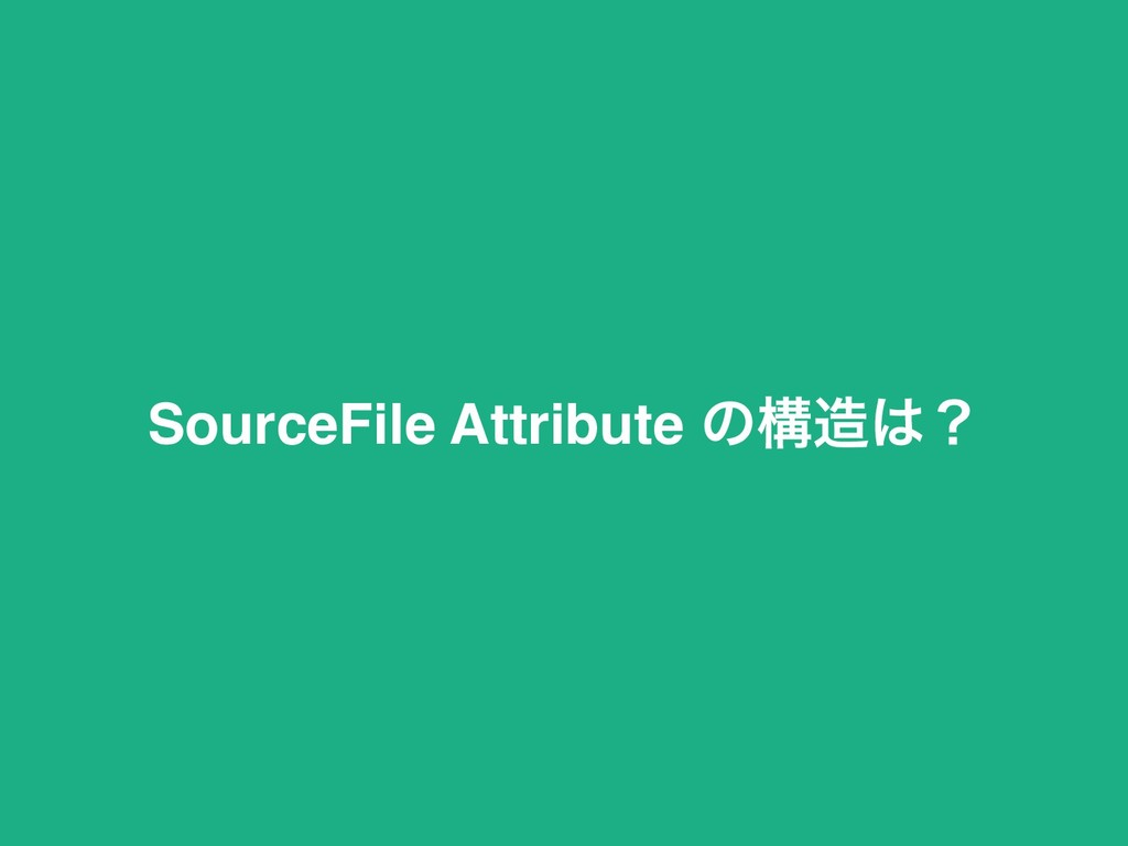 SourceFile Attribute ͷߏ଄͸ʁ