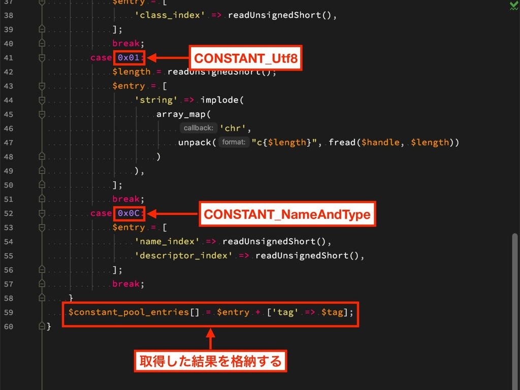 CONSTANT_Utf8 CONSTANT_NameAndType औಘͨ݁͠ՌΛ֨ೲ͢Δ