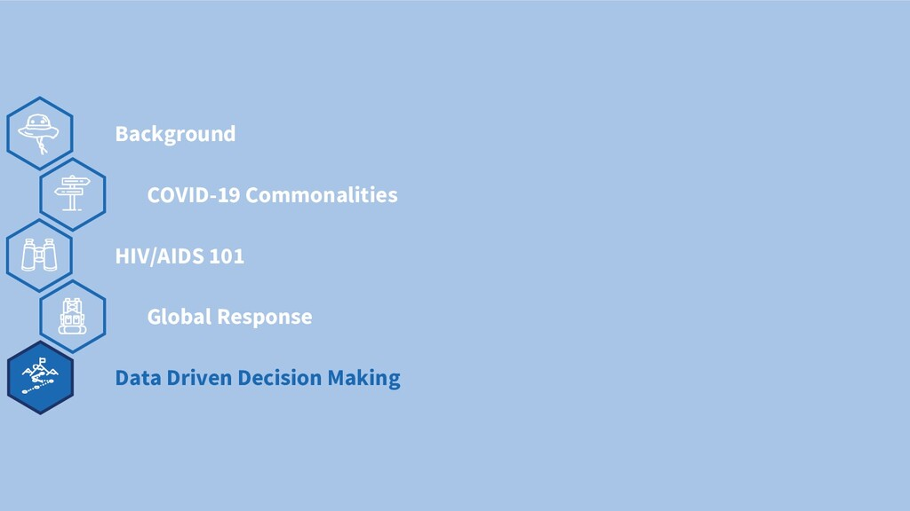 v COVID-19 Commonalities Background HIV/AIDS 10...