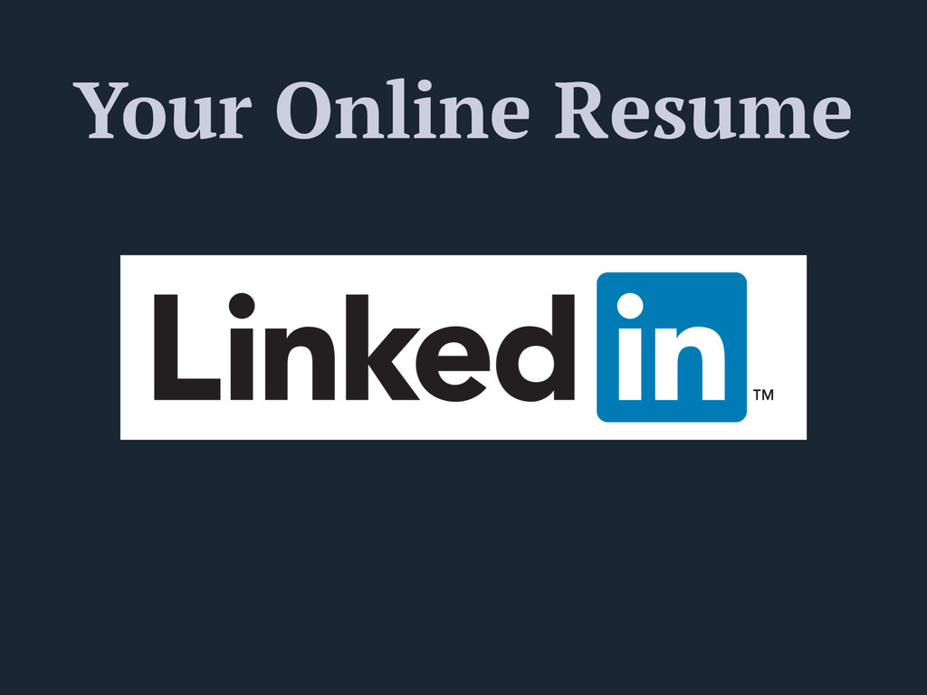 Your Online Resume