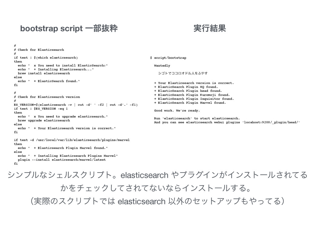 ! #! # Check for Elasticsearch! #! if test ! $(...