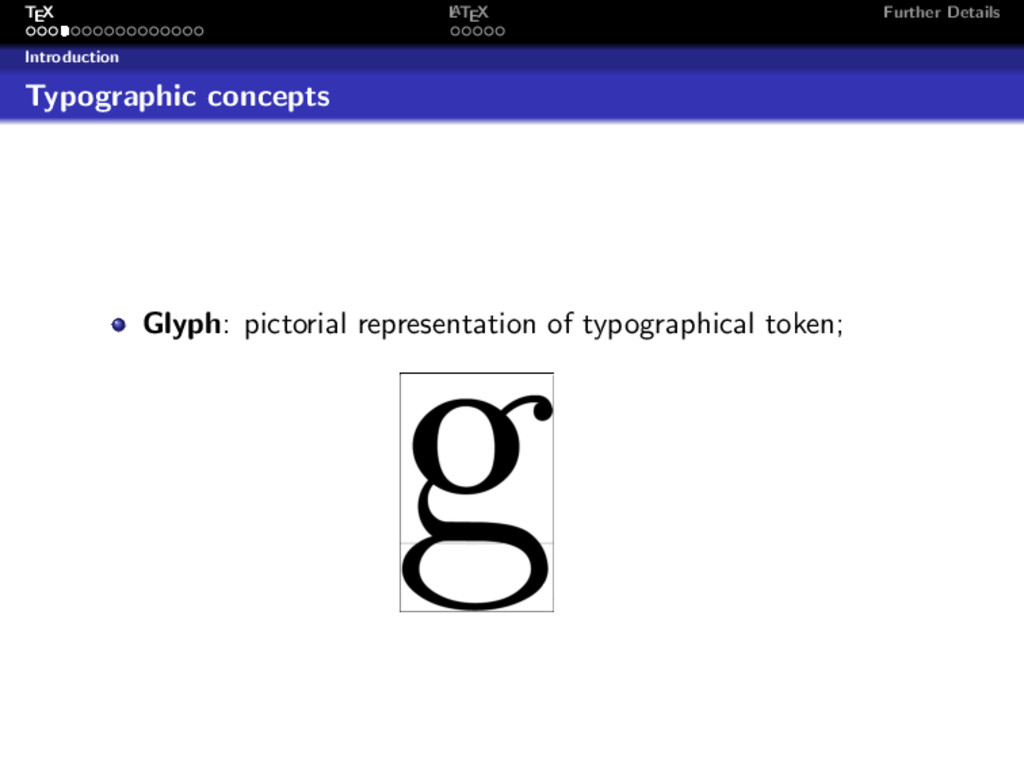TEX L ATEX Further Details Introduction Typogra...