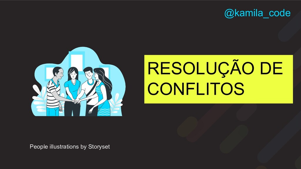 RESOLUÇÃO DE CONFLITOS People illustrations by ...
