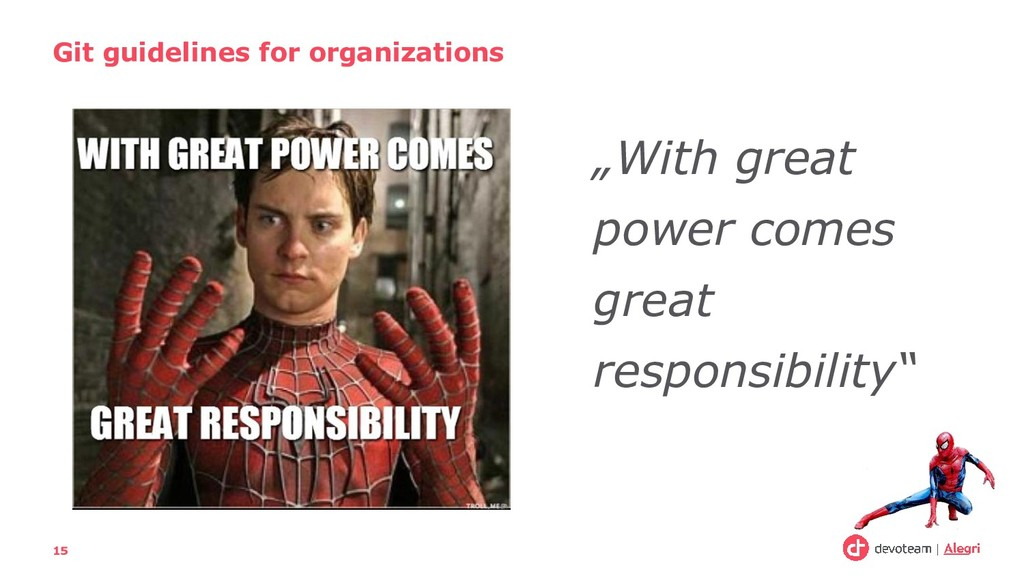 """""""With great power comes great responsibility"""" G..."""