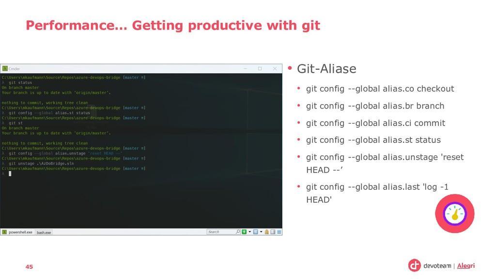 • Git-Aliase • git config --global alias.co che...