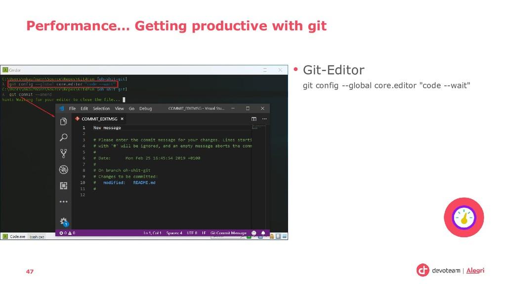 "• Git-Editor git config --global core.editor ""c..."