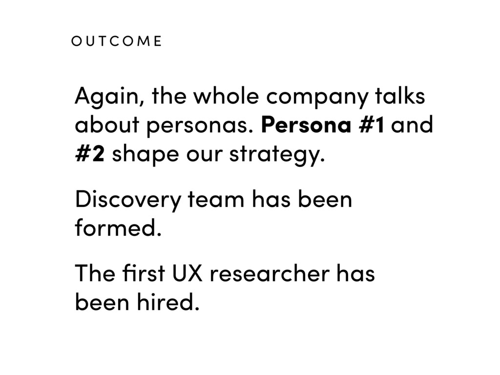 Again, the whole company talks about personas. ...