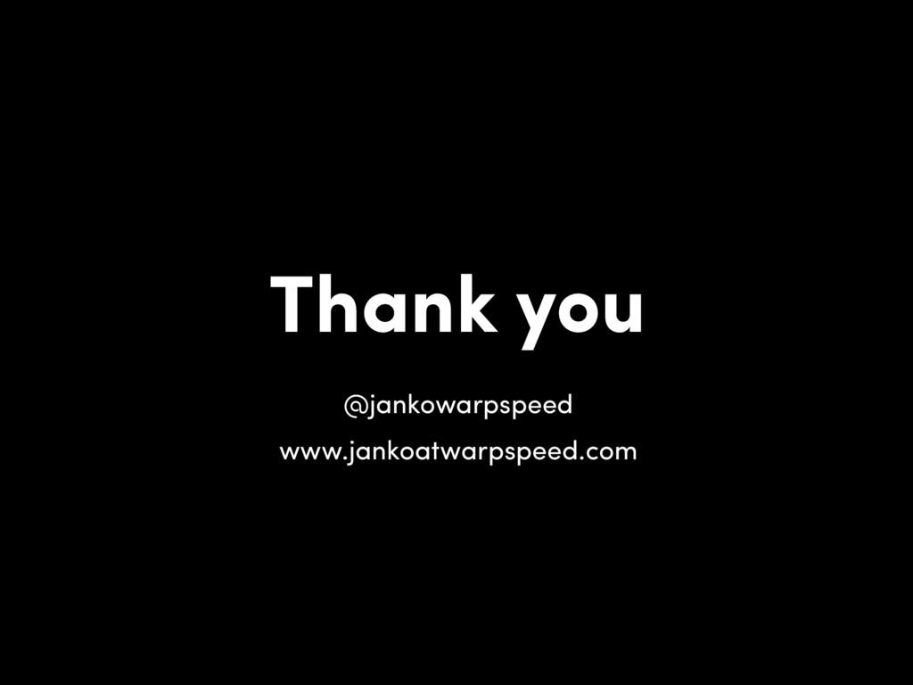 Thank you @jankowarpspeed www.jankoatwarpspeed....
