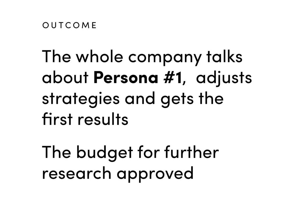The whole company talks about Persona #1, adjus...