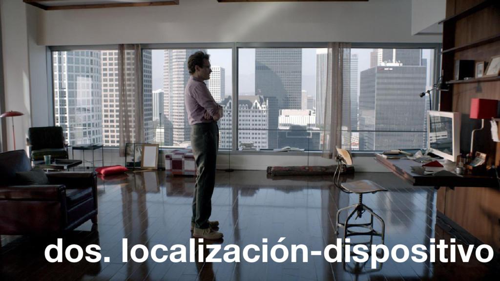 dos. localización-dispositivo