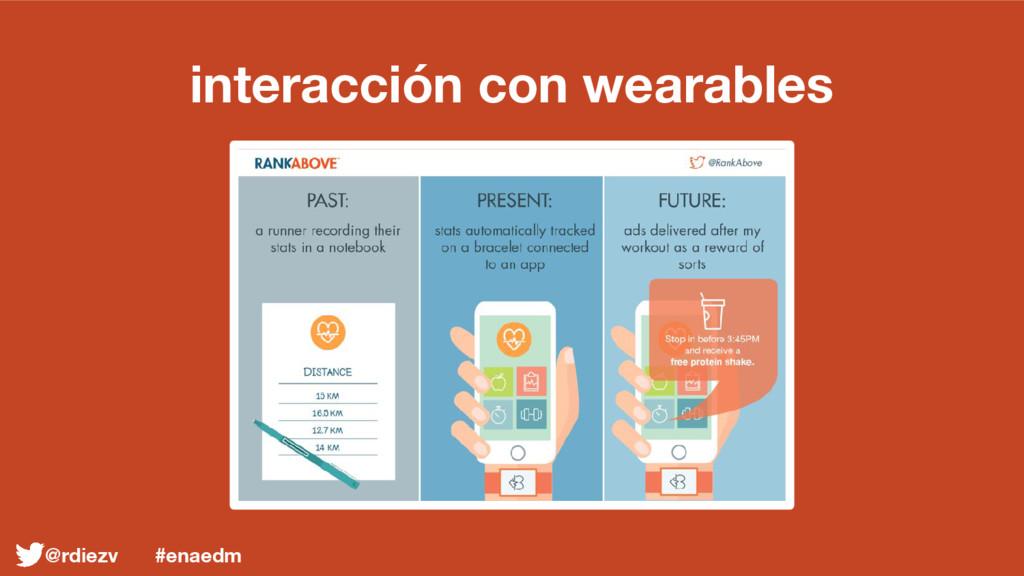 interacción con wearables @rdiezv #enaedm