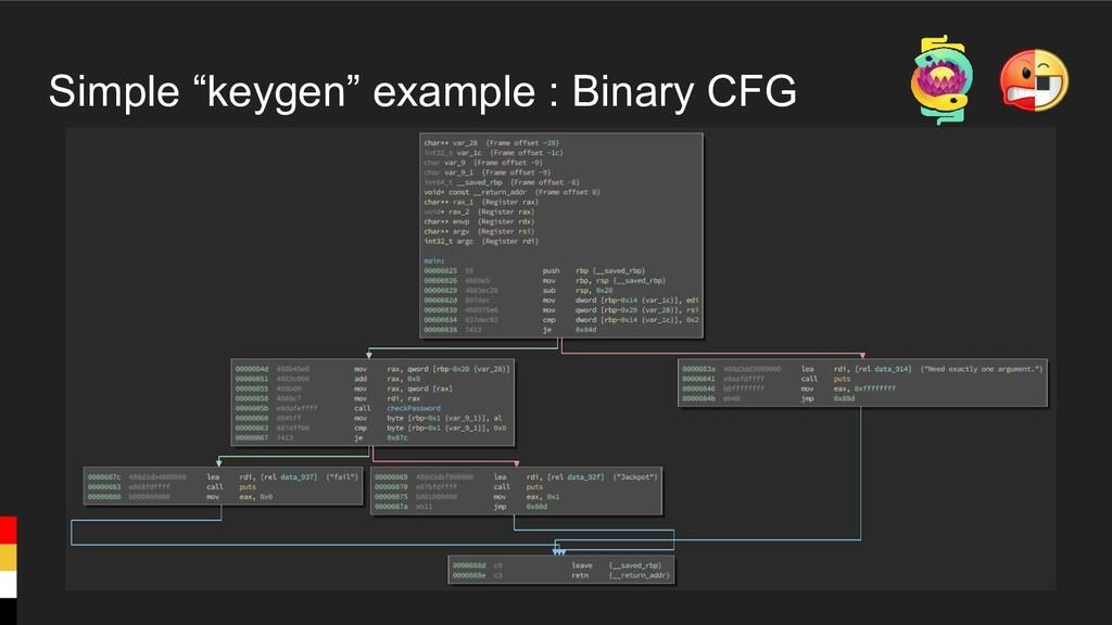 """Simple """"keygen"""" example : Binary CFG"""