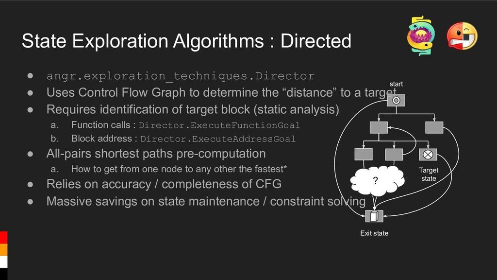 State Exploration Algorithms : Directed Target ...