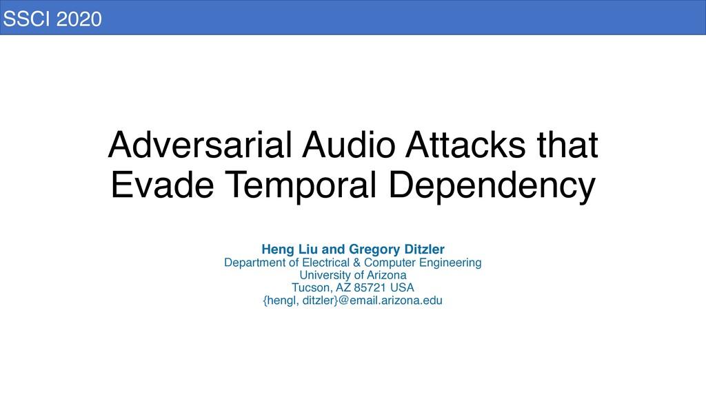 Adversarial Audio Attacks that Evade Temporal D...