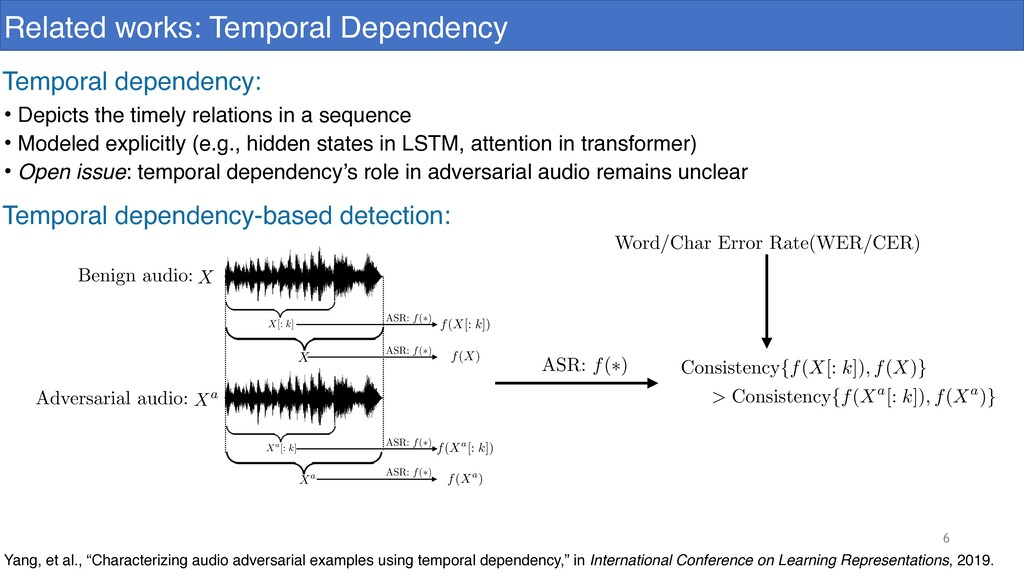 6 Related works: Temporal Dependency Yang, et a...