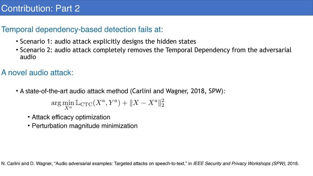 • Scenario 1: audio attack explicitly designs t...