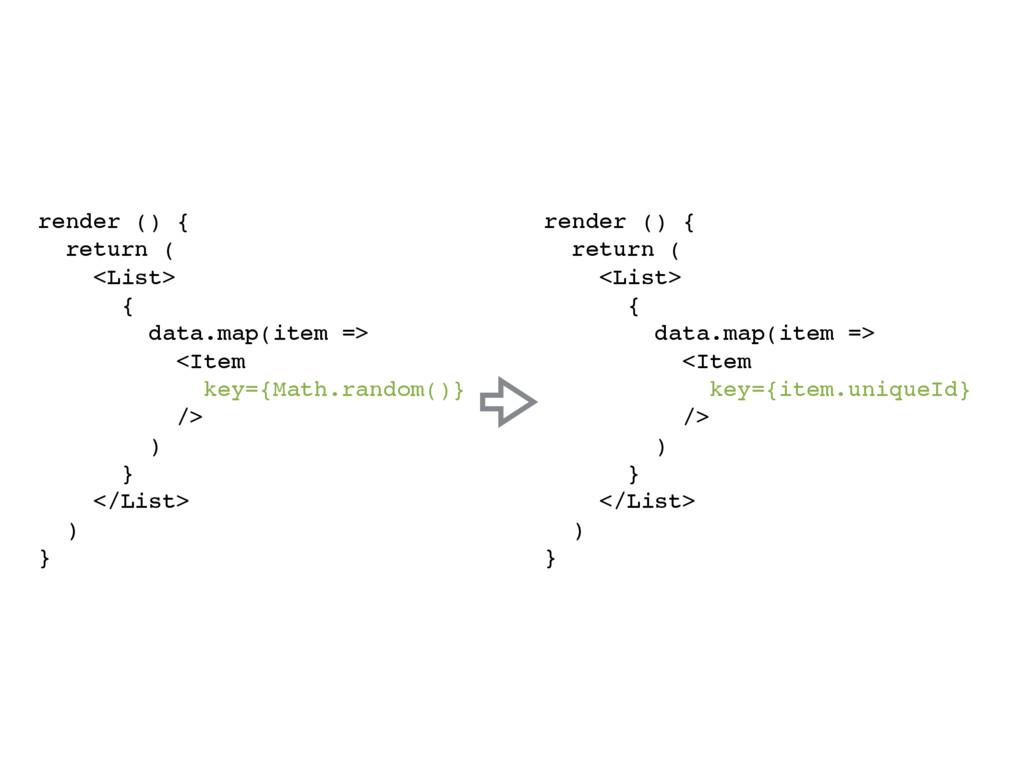 render () { return ( <List> { data.map(item => ...