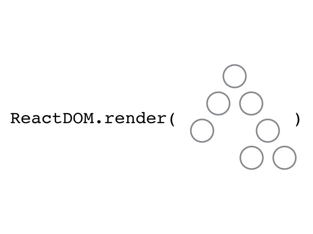 ReactDOM.render( )