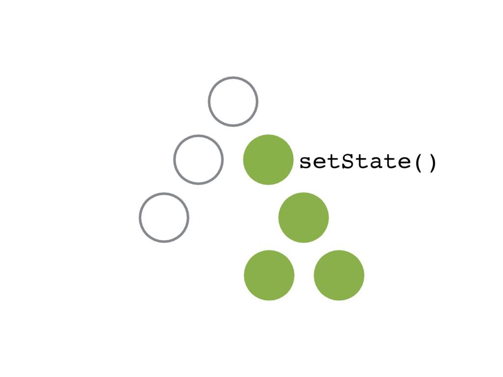 setState()
