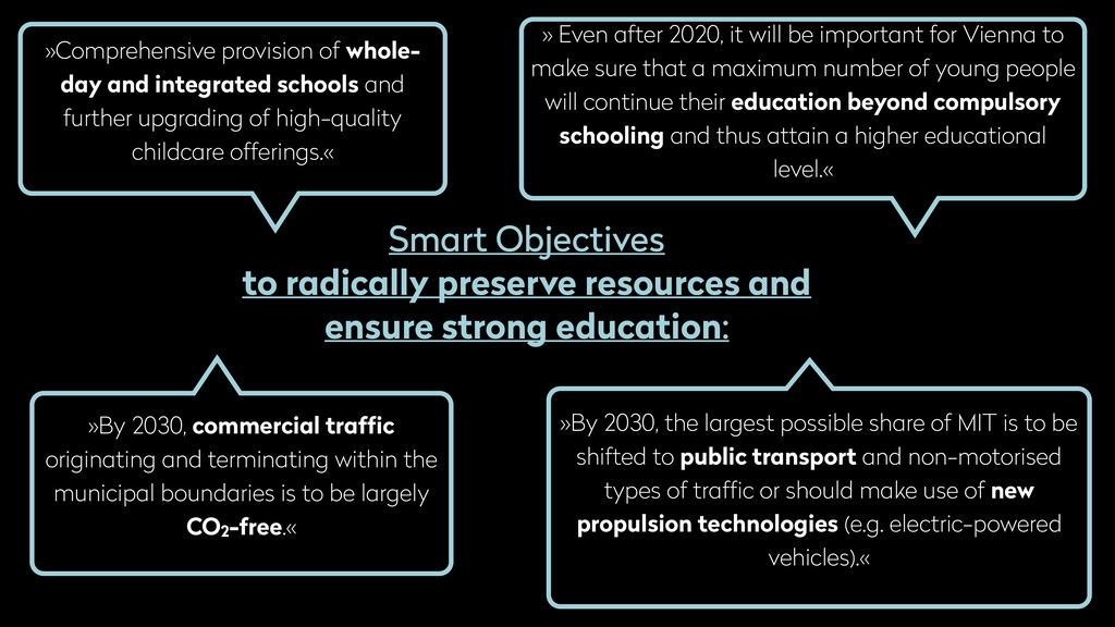 Smart Objectives to radically preserve resource...