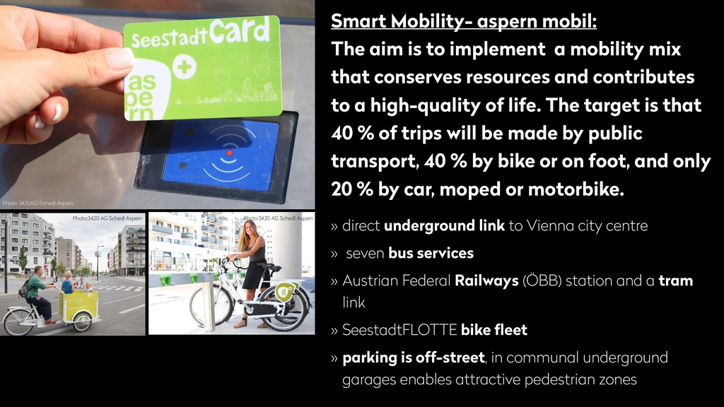 Smart Mobility- aspern mobil: The aim is to imp...