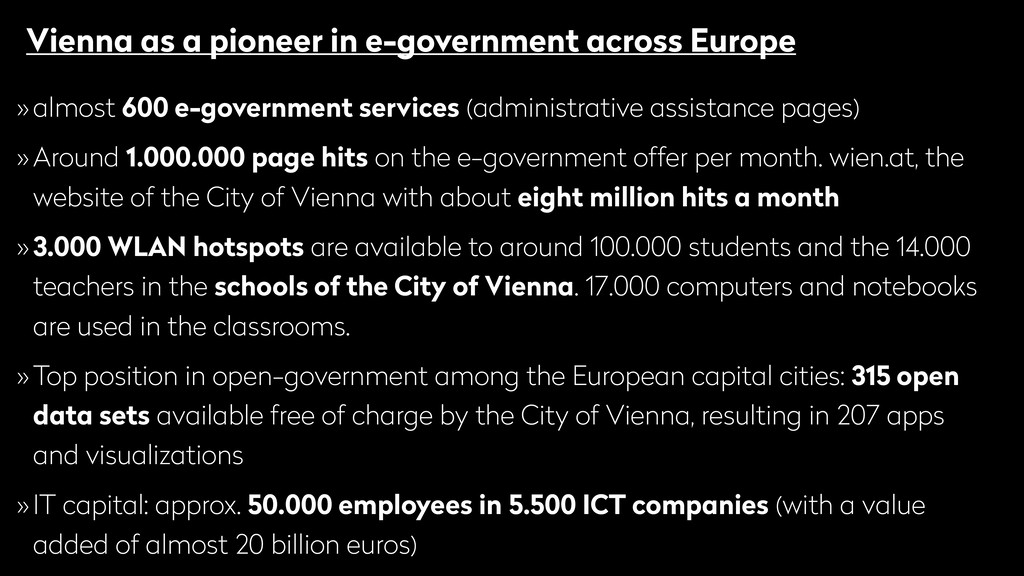 Vienna as a pioneer in e-government across Euro...