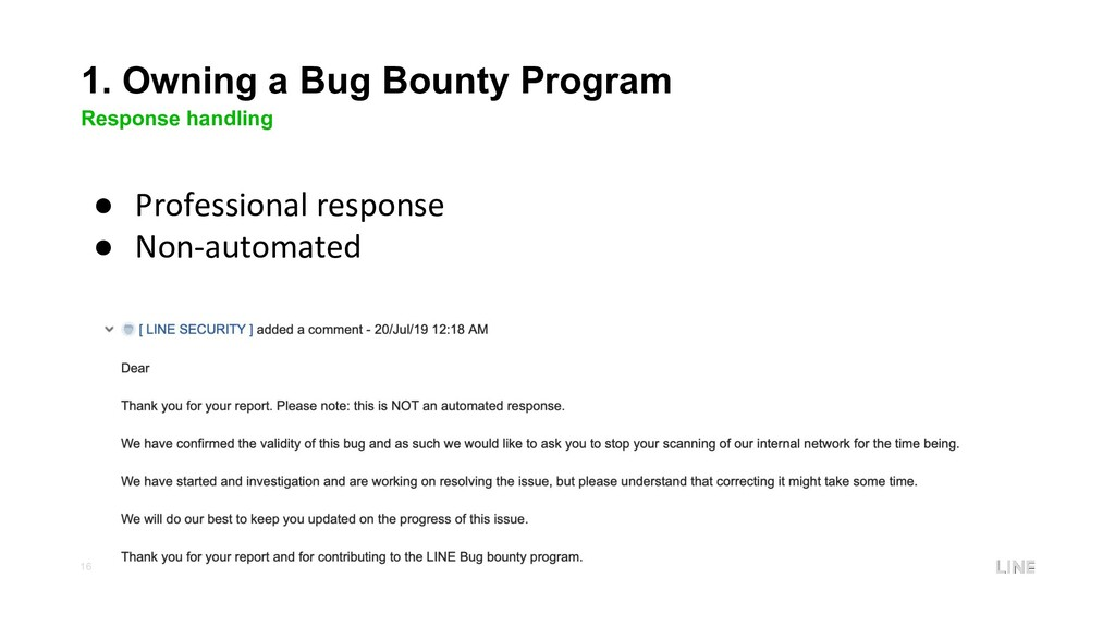 16 1. Owning a Bug Bounty Program Response hand...