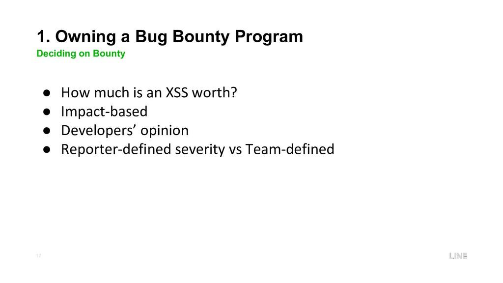 17 1. Owning a Bug Bounty Program Deciding on B...
