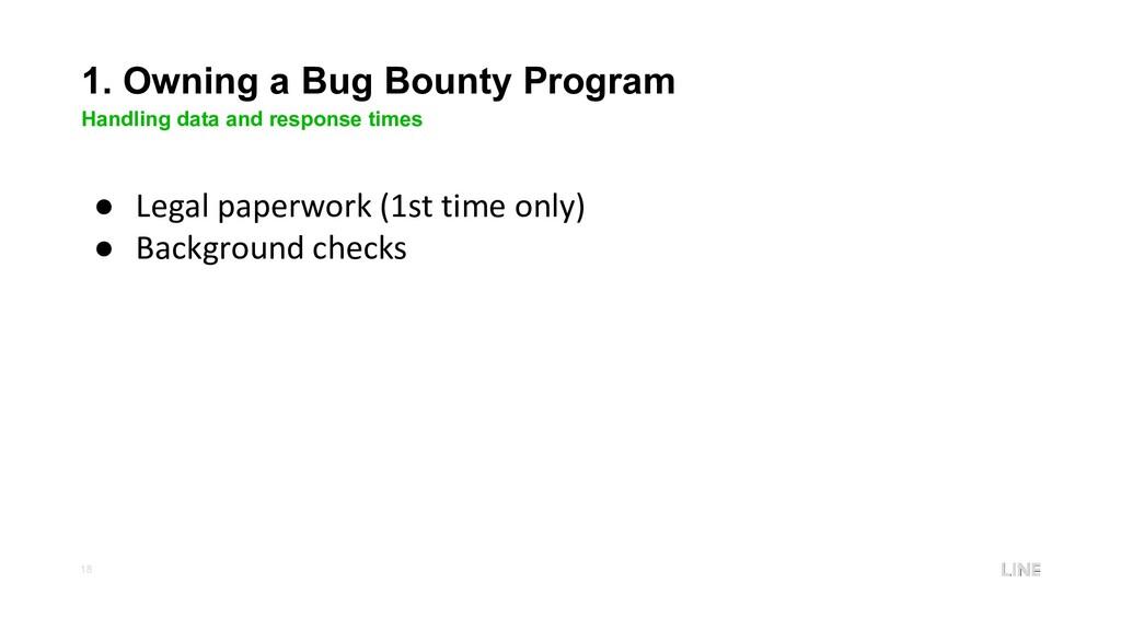 18 1. Owning a Bug Bounty Program Handling data...