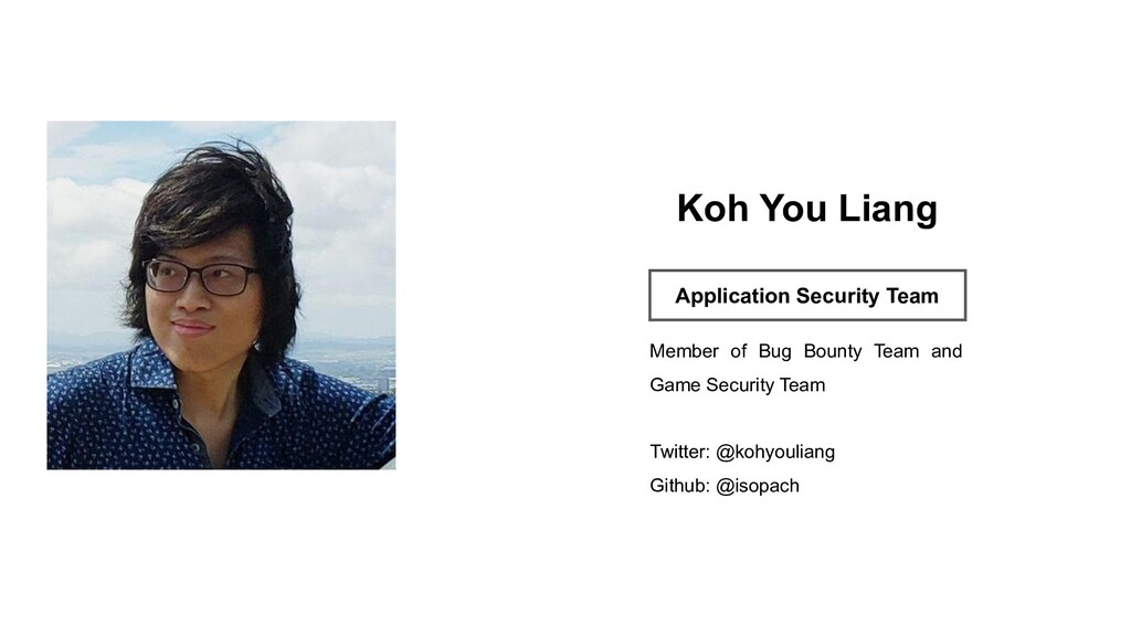 Profile Image Koh You Liang Application Securit...