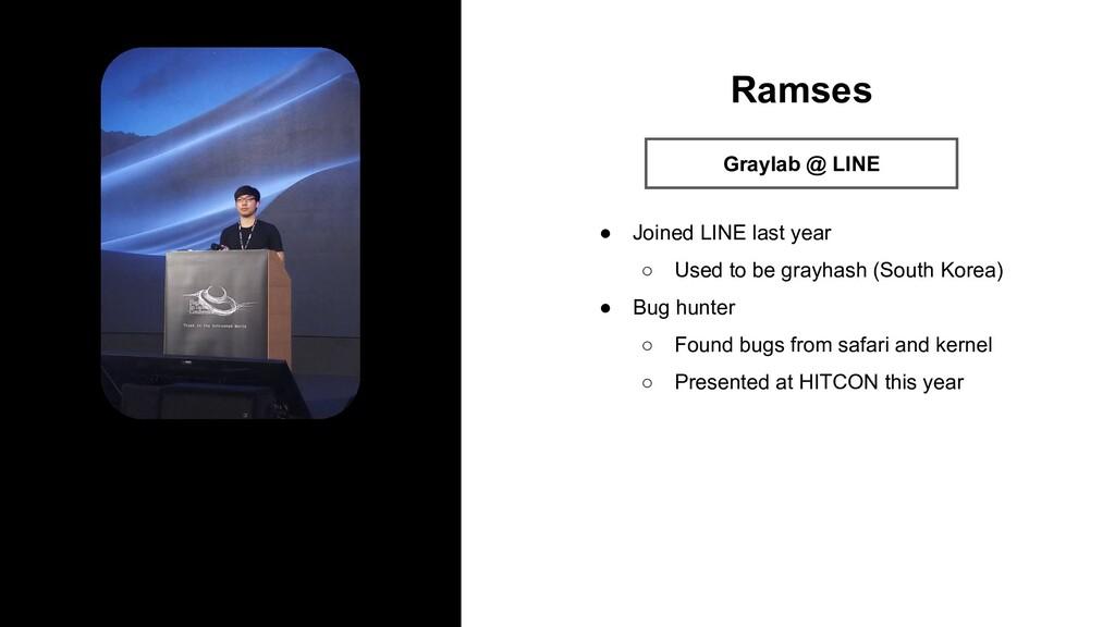 Profile Image Ramses Graylab @ LINE ● Joined LI...