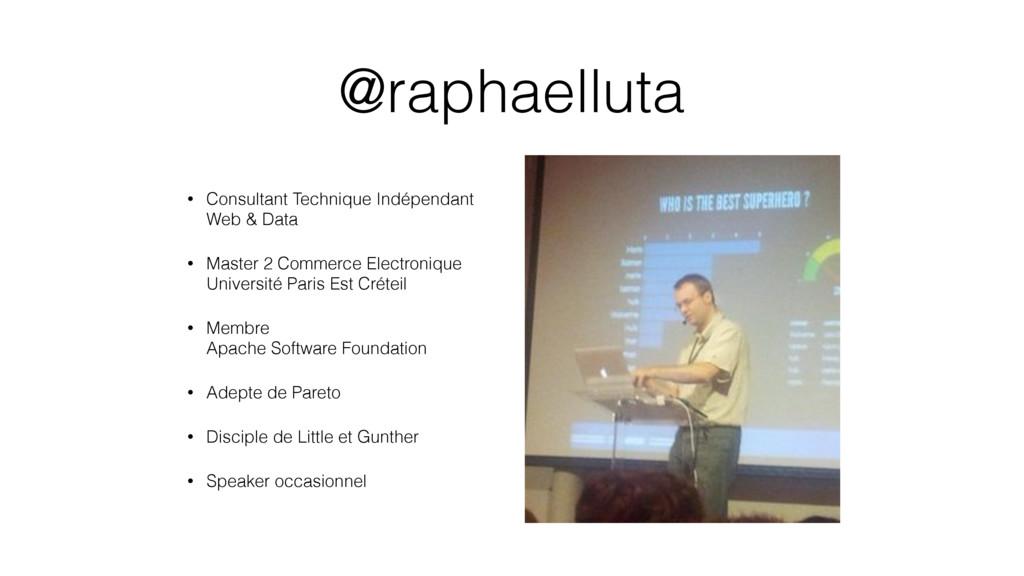 @raphaelluta • Consultant Technique Indépendant...