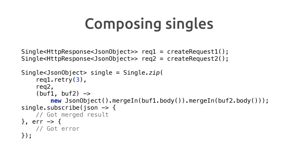 Composing singles Single<HttpResponse<JsonObjec...