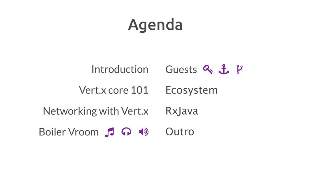 Agenda Introduction Vert.x core 101 Networking ...