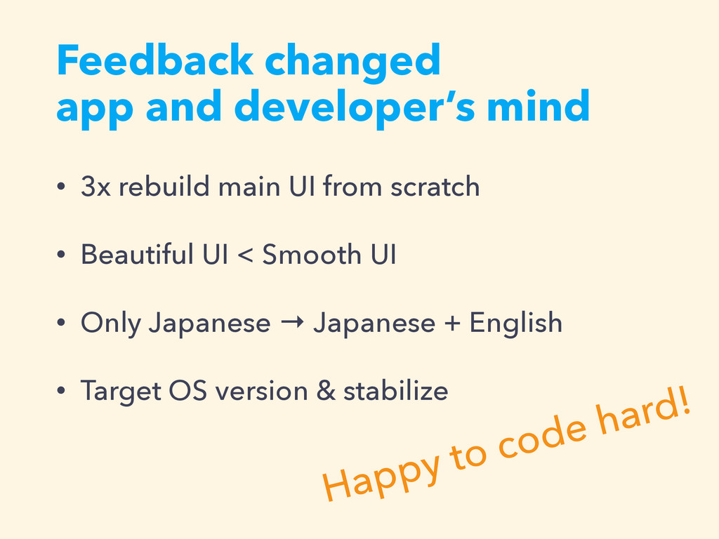 Feedback changed