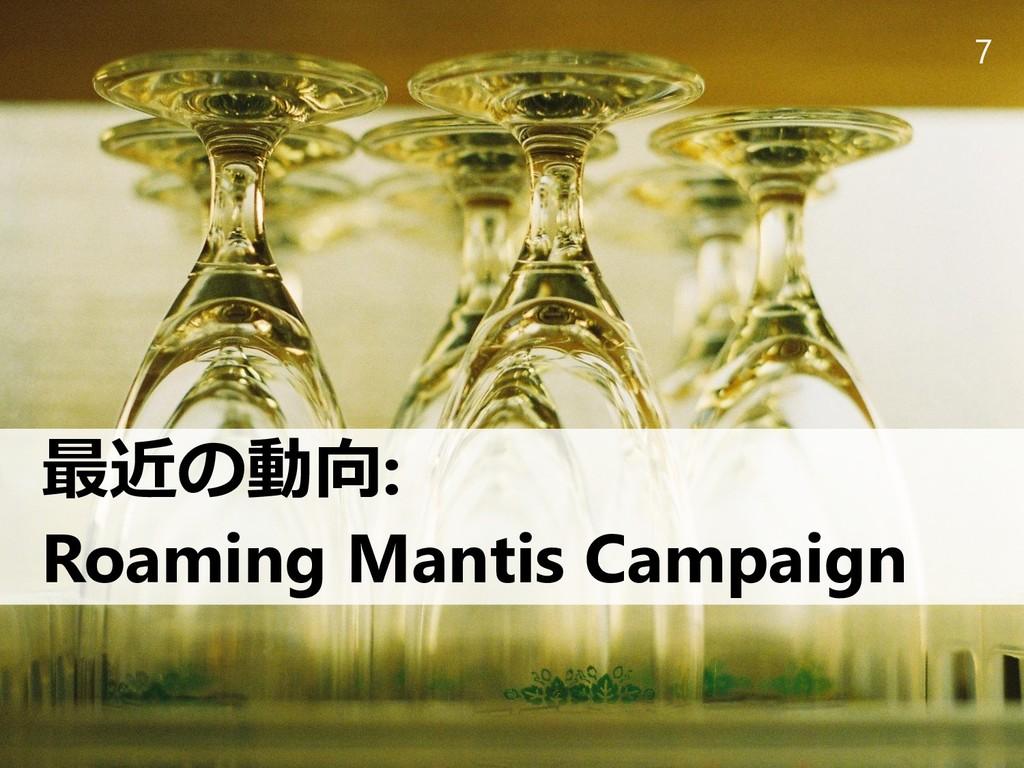 7 最近の動向: Roaming Mantis Campaign
