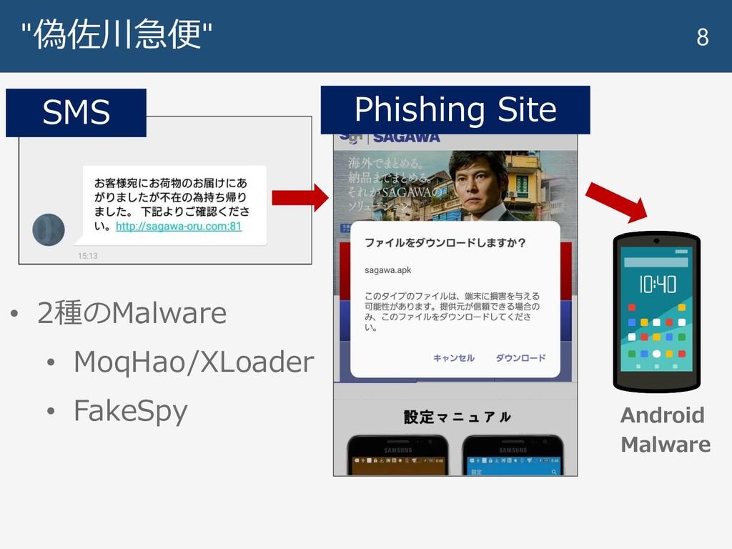"""""""偽佐川急便"""" 8 • 2種のMalware • MoqHao/XLoader • FakeS..."""