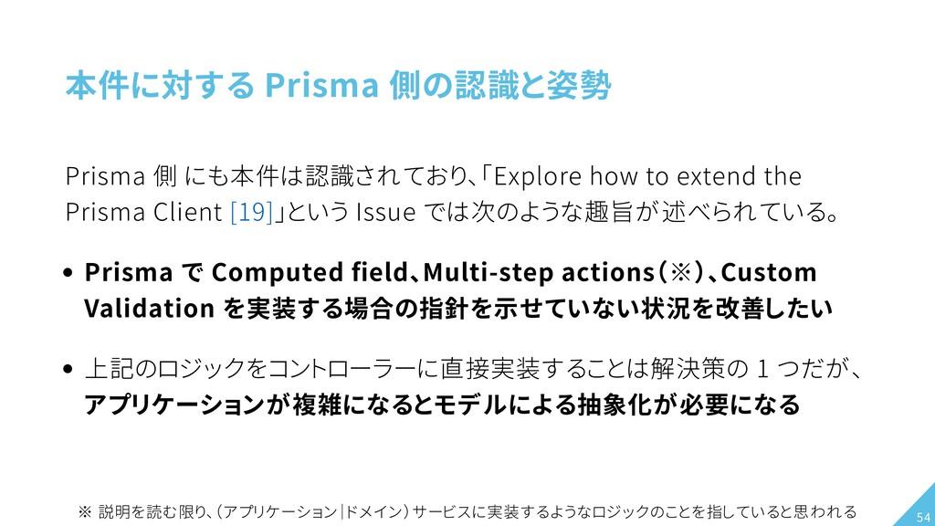 本件に対する Prisma 側の認識と姿勢 Prisma 側 にも本件は認識されており、「Ex...
