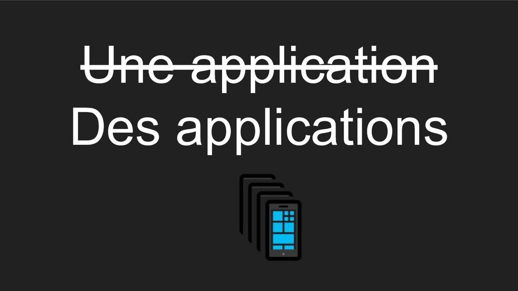 Une application Des applications