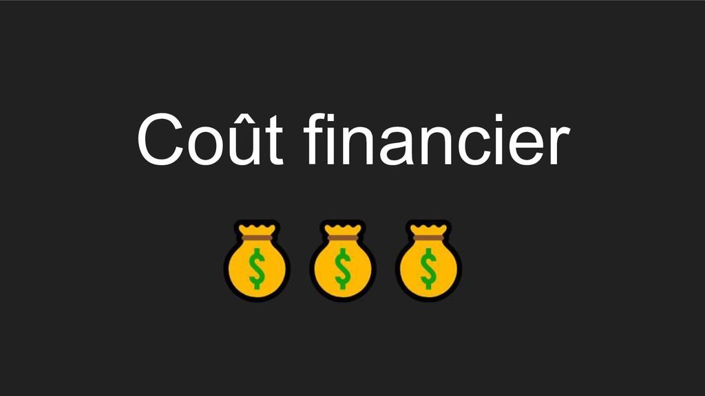 Coût financier